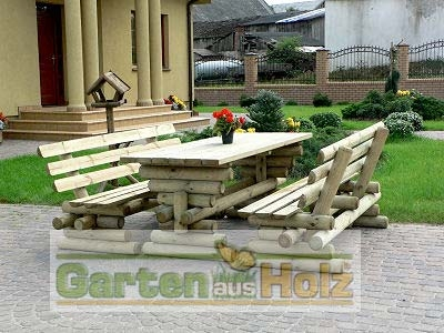hoq sitzgruppe rustikal biertischgarnitur aus holz gastronomie gartenm bel neu. Black Bedroom Furniture Sets. Home Design Ideas